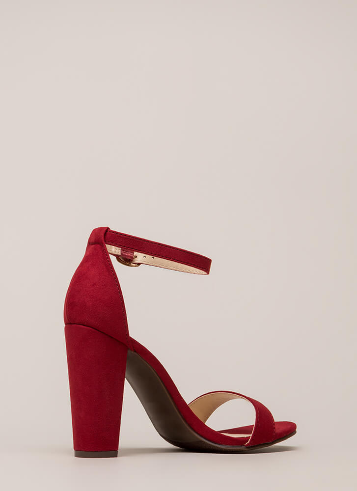 All's Fair In Fashion Faux Suede Heels RED