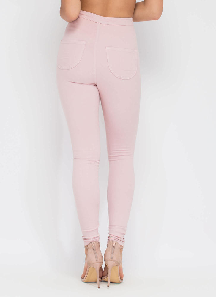 Feel The High-Waisted Skinny Jeans BLUSH
