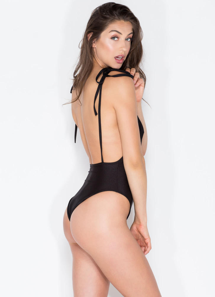 Temperature Rising One-Piece Swimsuit BLACK (Final Sale)