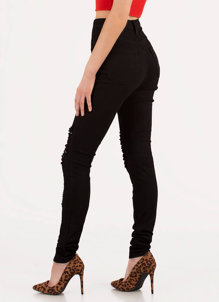 Shred-y To Rock Skinny Jeans BLACK