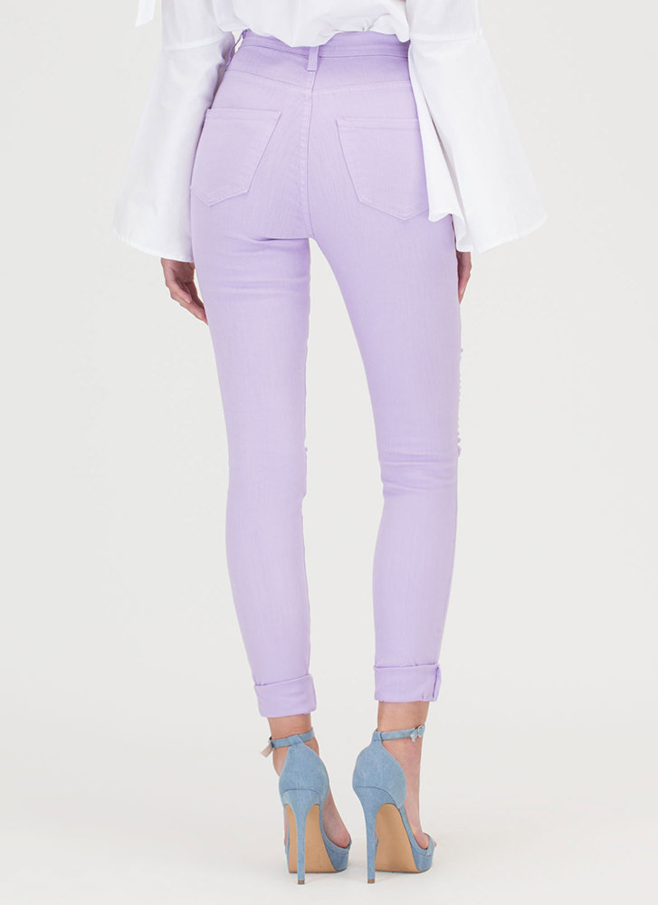 Shred-y To Rock Skinny Jeans LAVENDER
