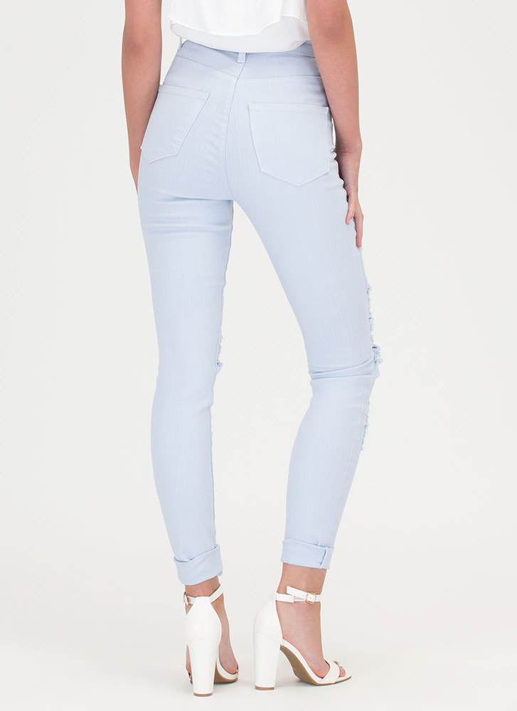 Shred-y To Rock Skinny Jeans LTBLUE
