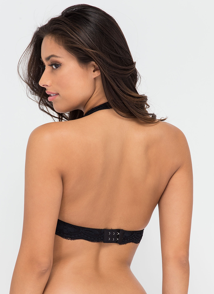 Frill Of The Chase Lace Bralette BLACK (Final Sale)