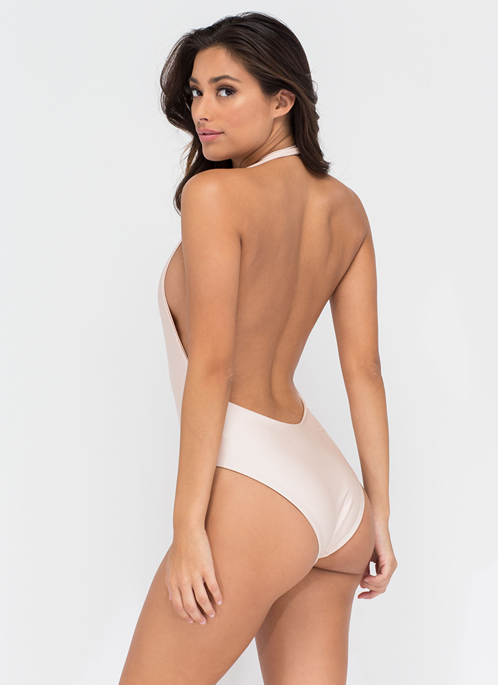 Bae Watch One-Piece Swimsuit NUDE (Final Sale)