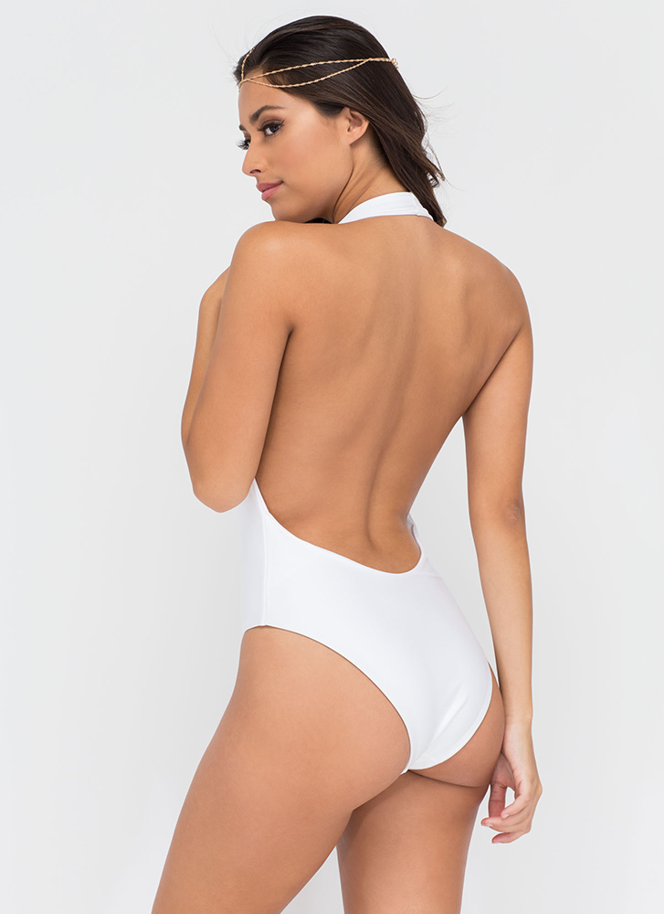 Bae Watch One-Piece Swimsuit WHITE (Final Sale)