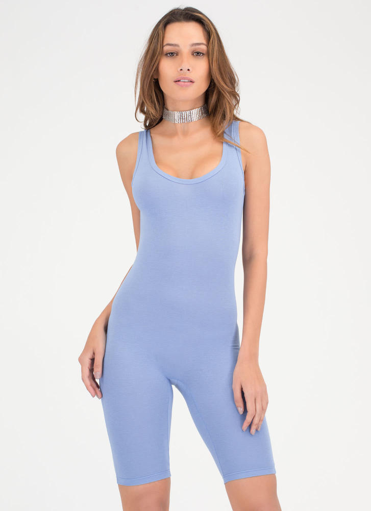 Get The Scoop Cropped Jumpsuit BLUE