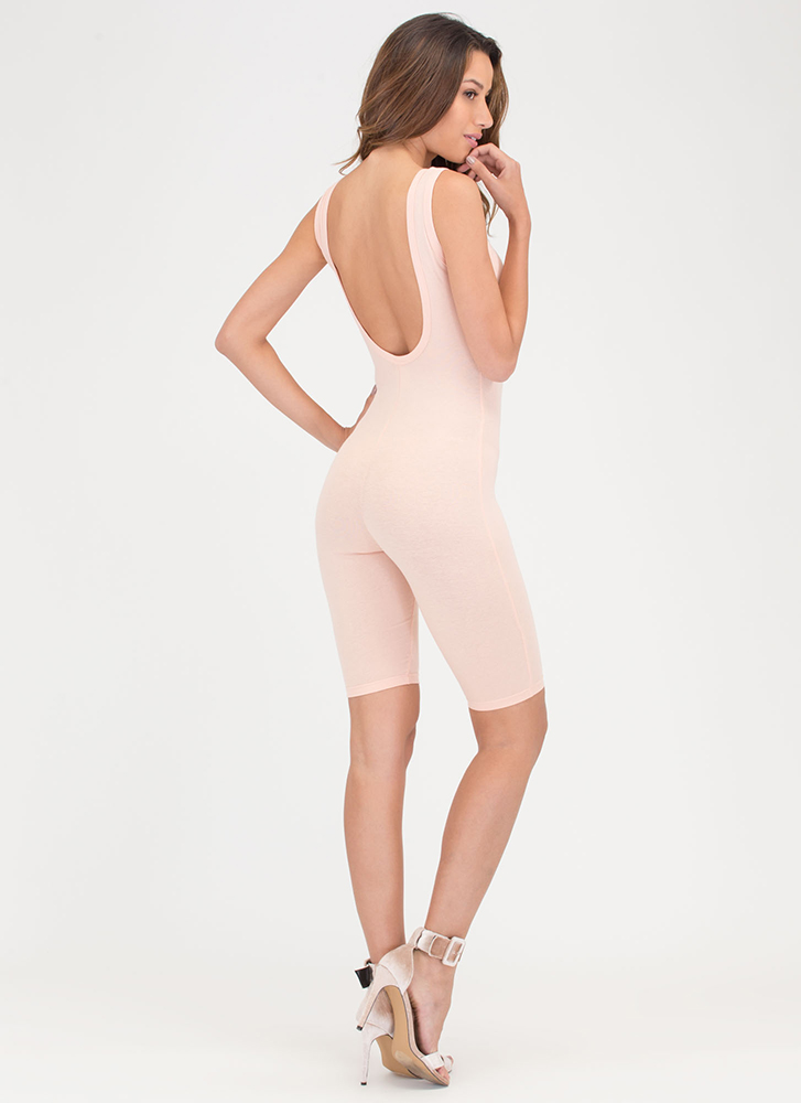 Get The Scoop Cropped Jumpsuit PINK