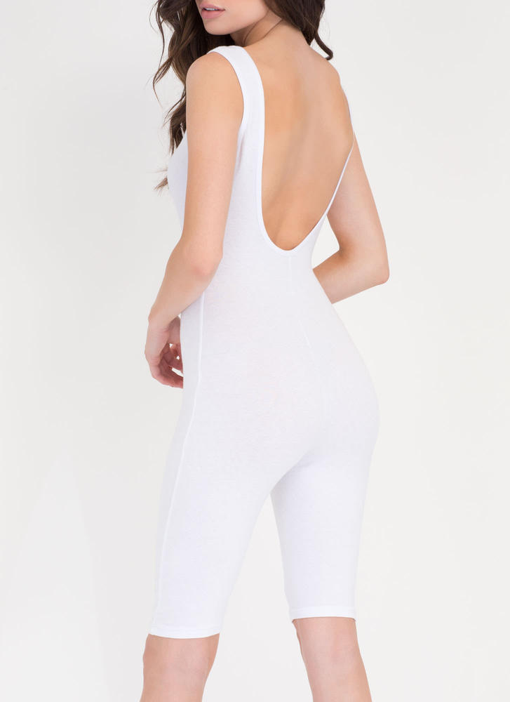 Get The Scoop Cropped Jumpsuit WHITE