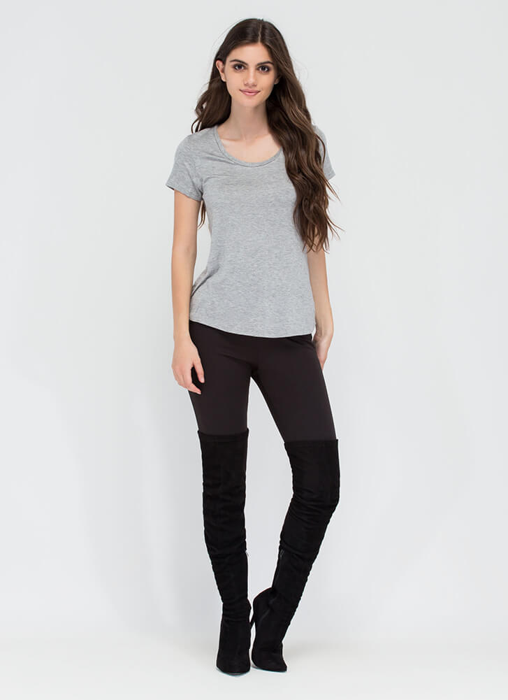 You Can't Go Wrong With A Simple Tee HGREY