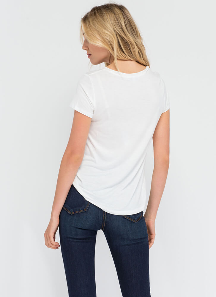 You Can't Go Wrong With A Simple Tee WHITE
