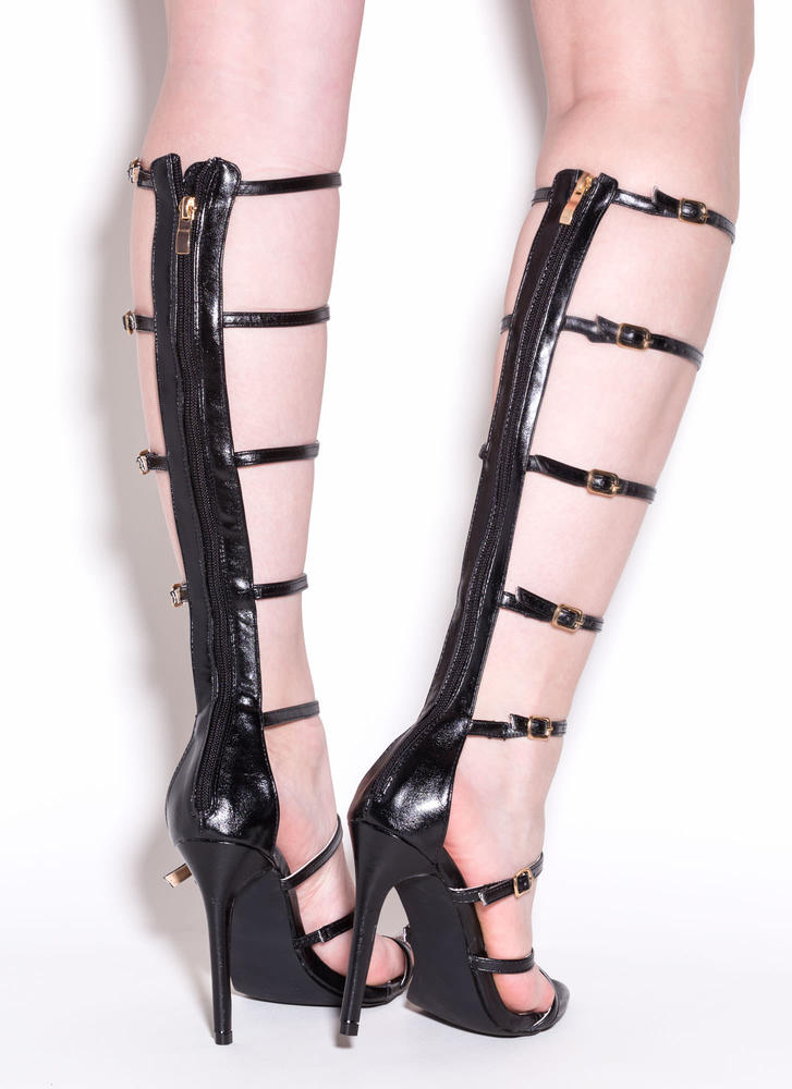 Rule The Realm Gladiator Heels BLACK