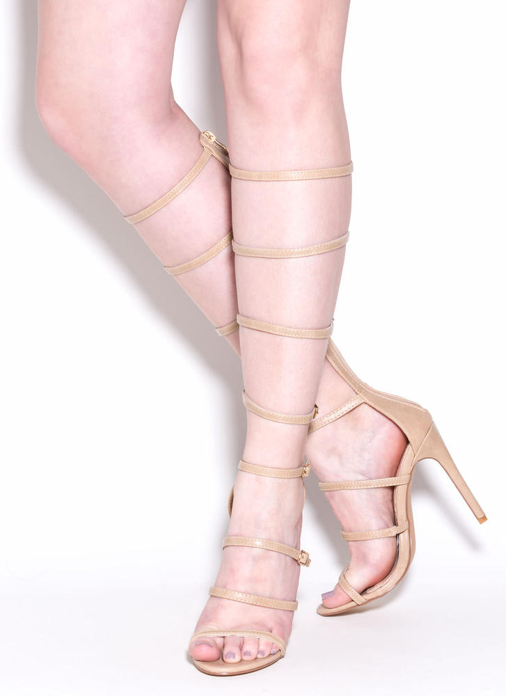 Rule The Realm Gladiator Heels NUDE