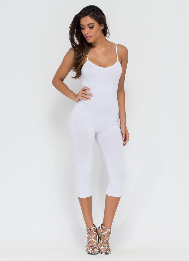 Eyes On You Basic Cropped Jumpsuit WHITE (You Saved $11)
