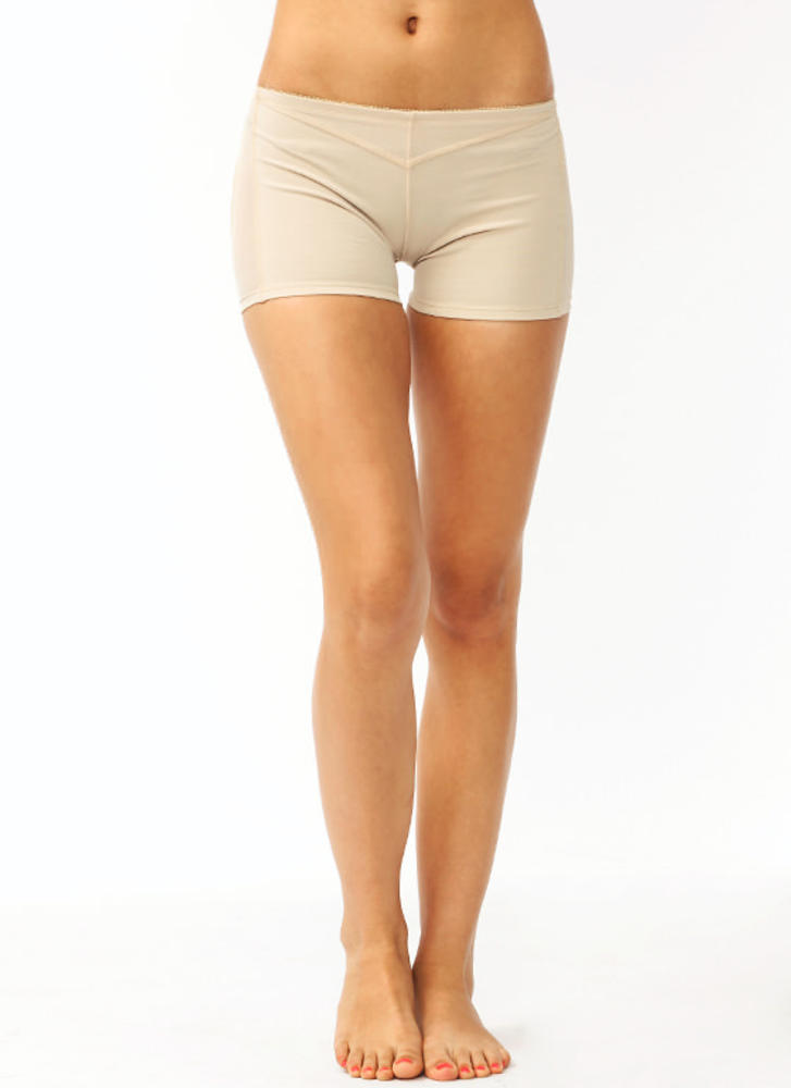 Kickin' Ass Butt Lift Boy Shorts BEIGE (Final Sale)