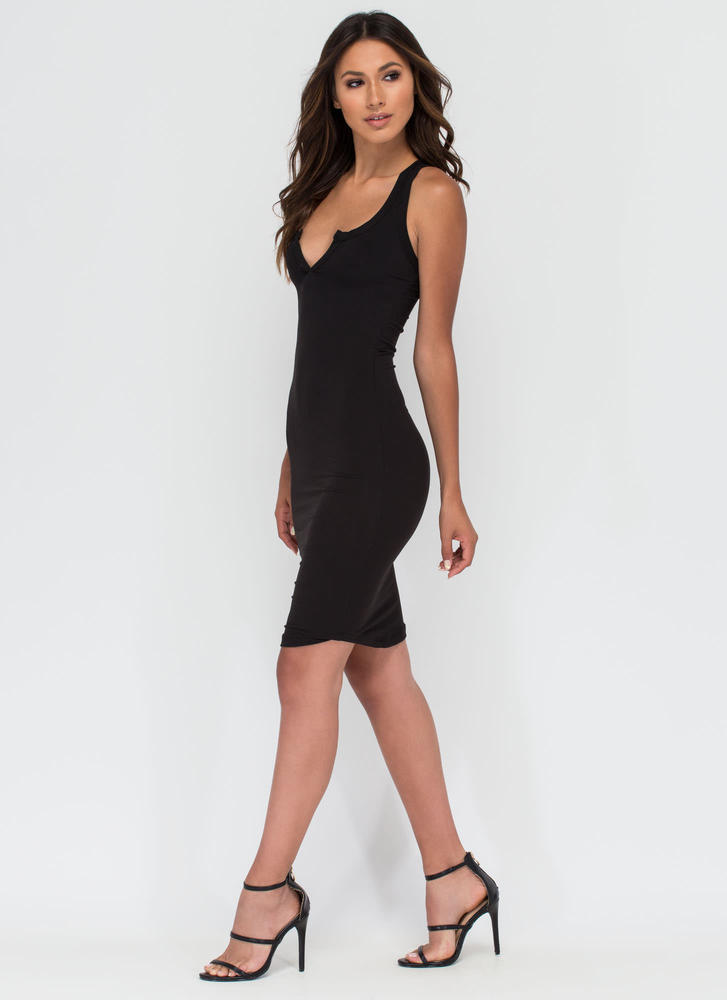Casual Fling Racerback Tank Dress BLACK