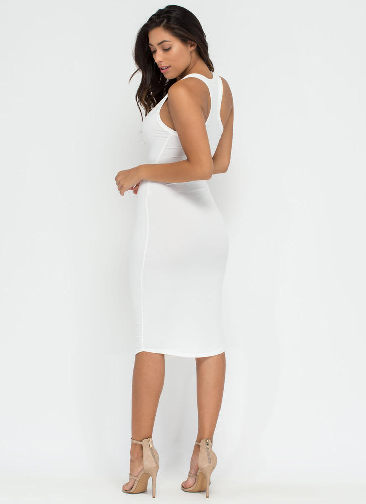 Casual Fling Racerback Tank Dress WHITE