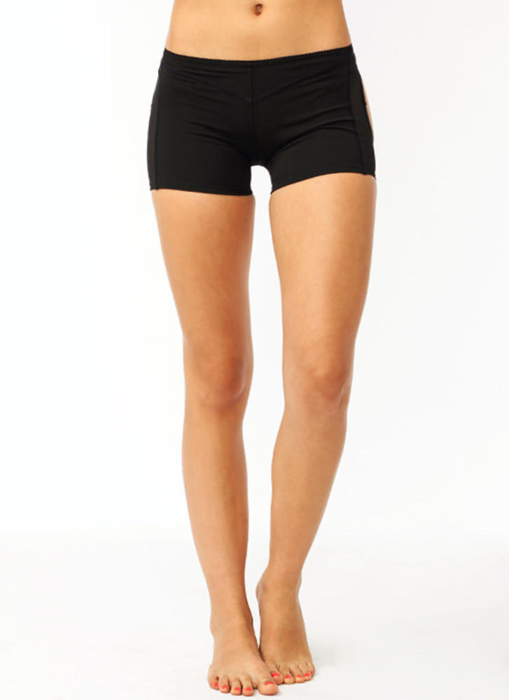 Kickin' Ass Plus Size Butt Lift Shorts BLACK (Final Sale)