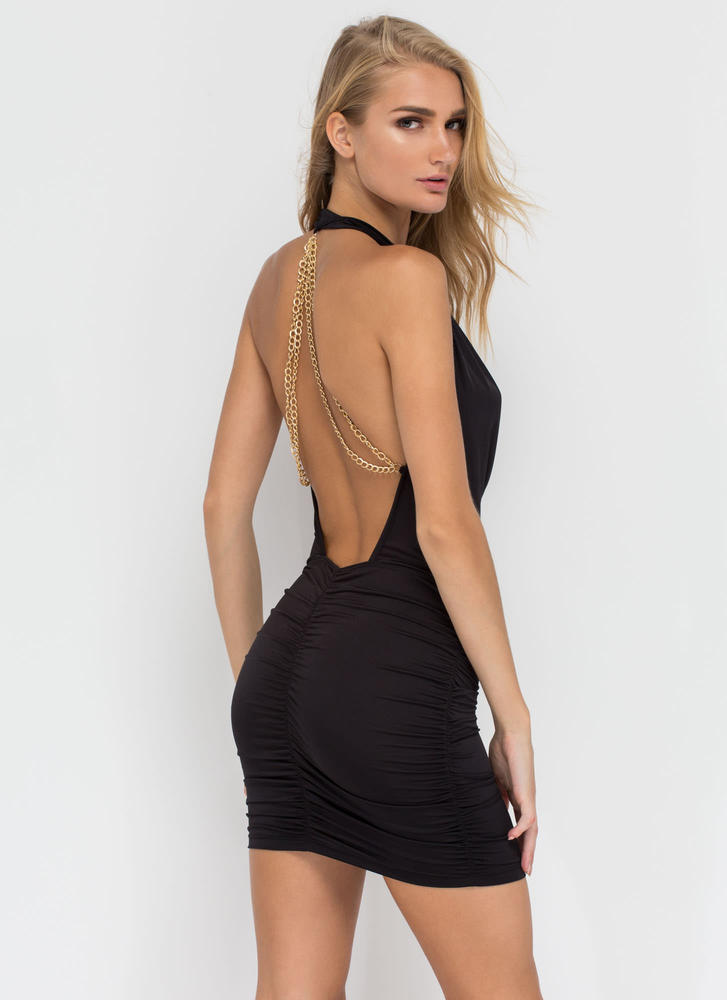 Chain Of My Existence Minidress BLACK