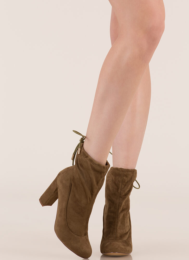 Fashion Activist Slouchy Booties OLIVE