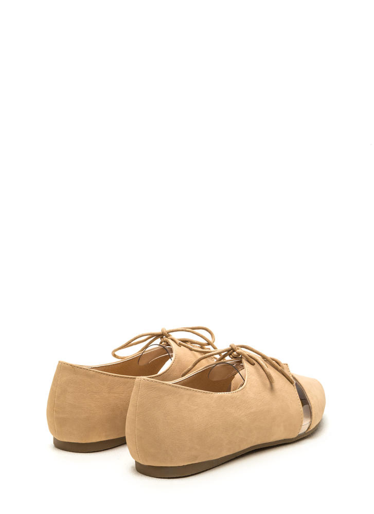 Top Exposure Faux Leather Flats NUDE