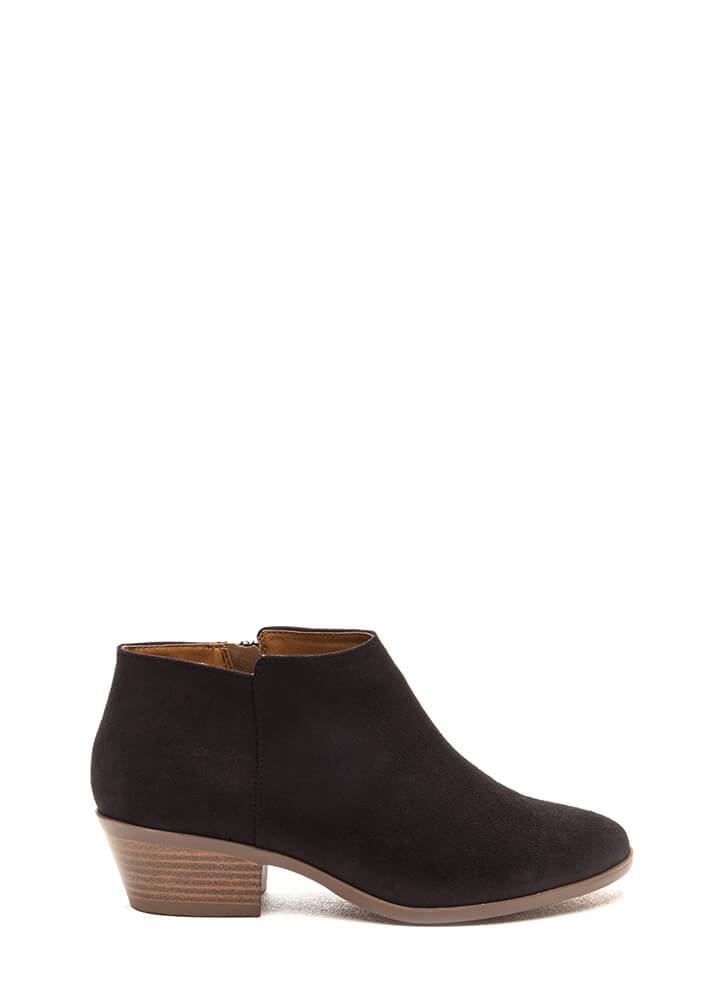 New Shoes On The Block Booties BLACK