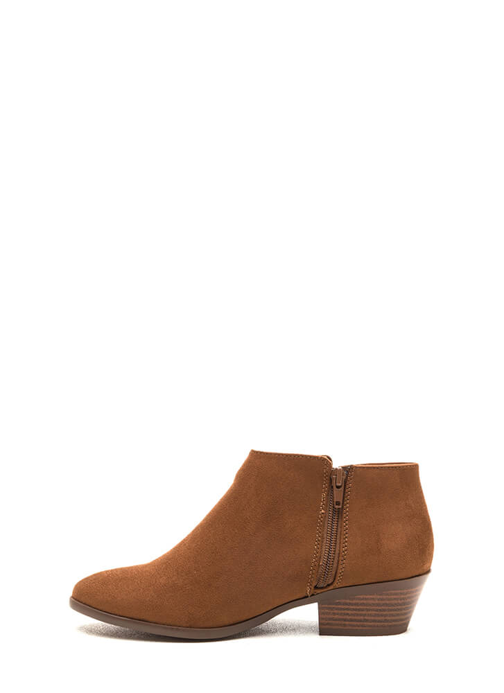 New Shoes On The Block Booties COGNAC