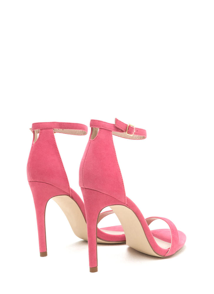 Keyhole To My Heart Faux Suede Heels CORAL (Final Sale)