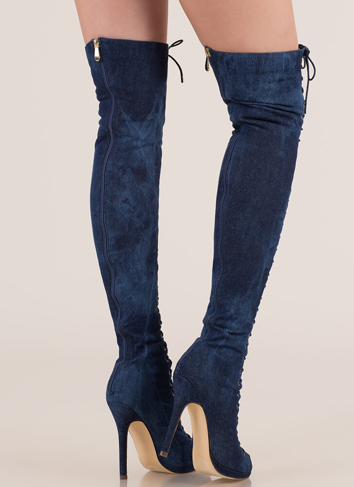 Revamp Denim Over-The-Knee Boots DENIM