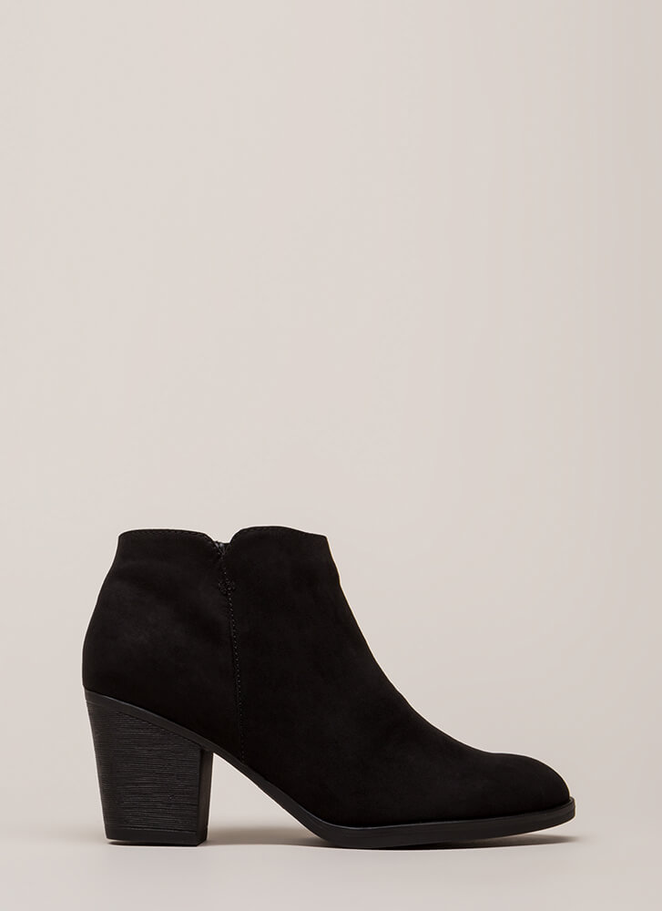 Field Day Faux Suede Booties BLACK