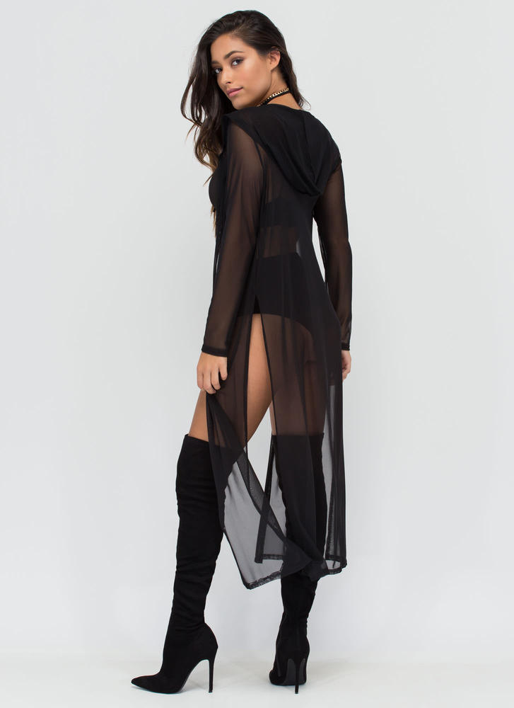 Lightest Touch Long Mesh Jacket BLACK