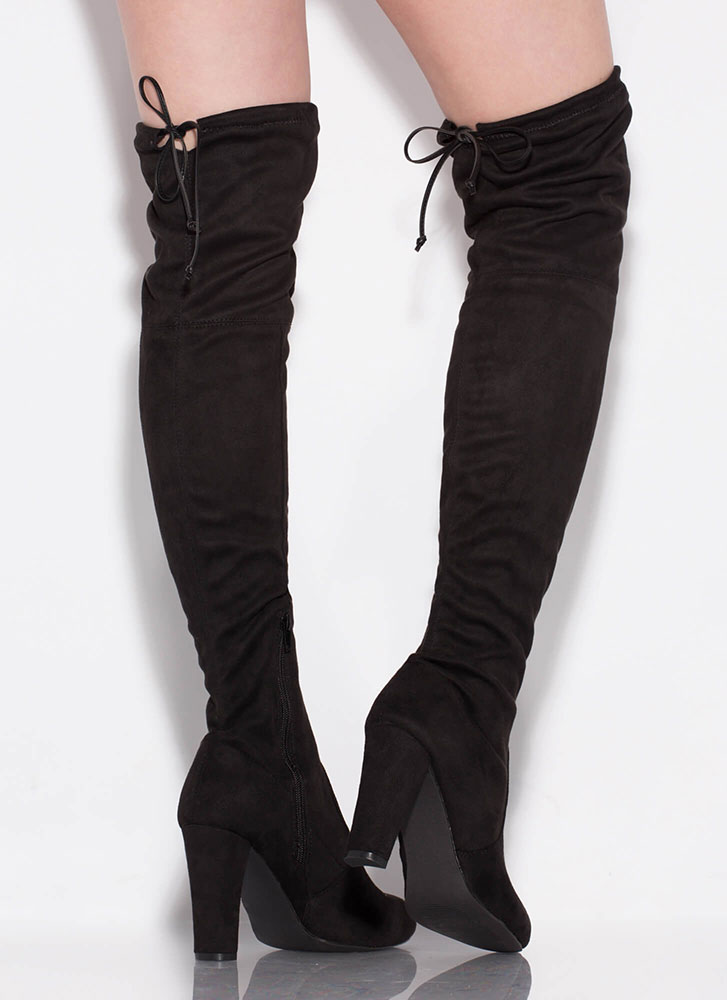 All Legs Over-The-Knee Chunky Boots BLACK