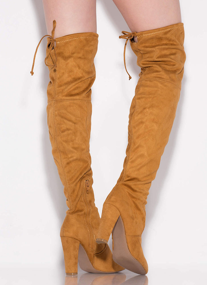 All Legs Over-The-Knee Chunky Boots CAMEL