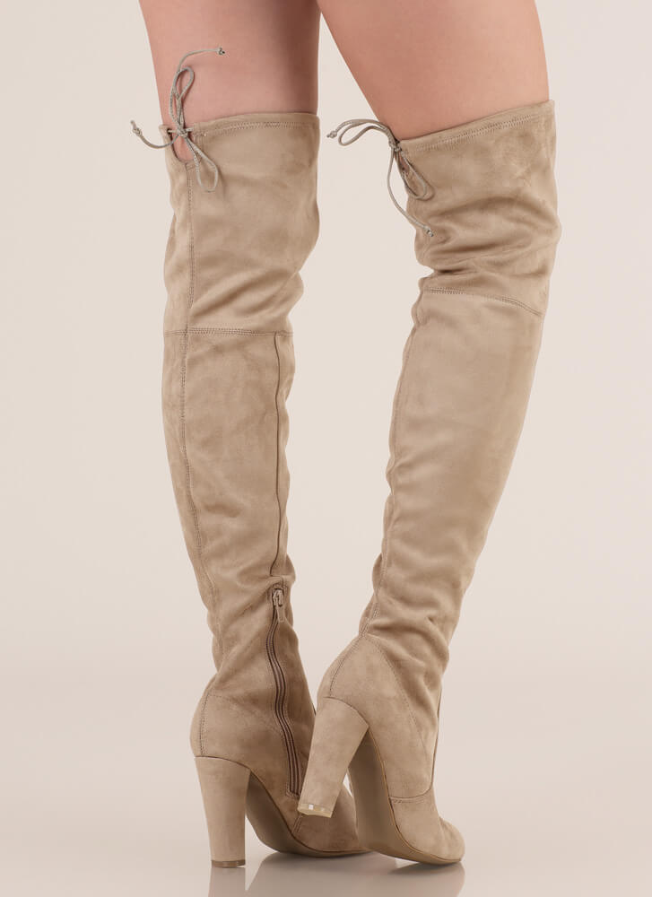 All Legs Over-The-Knee Chunky Boots NATURAL