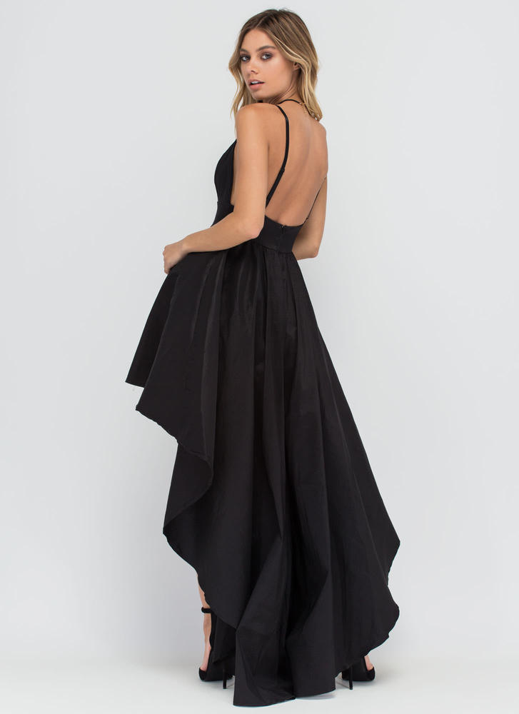 Under The Moonlight High-Low Gown BLACK