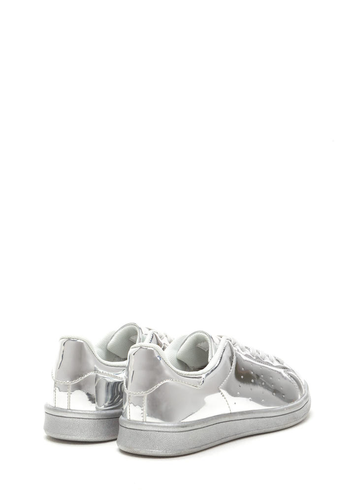 Sole Seeker Metallic Sneakers SILVER