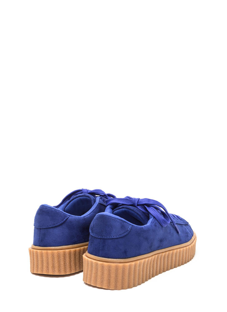 Jeepers Creepers Platform Sneakers BLUE