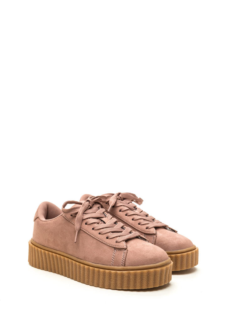 Jeepers Creepers Platform Sneakers PINK