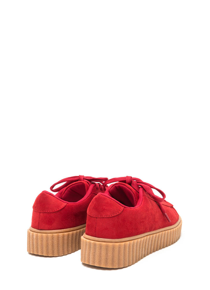 Jeepers Creepers Platform Sneakers RED