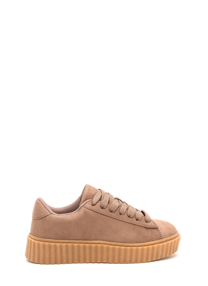 Jeepers Creepers Platform Sneakers TAUPE