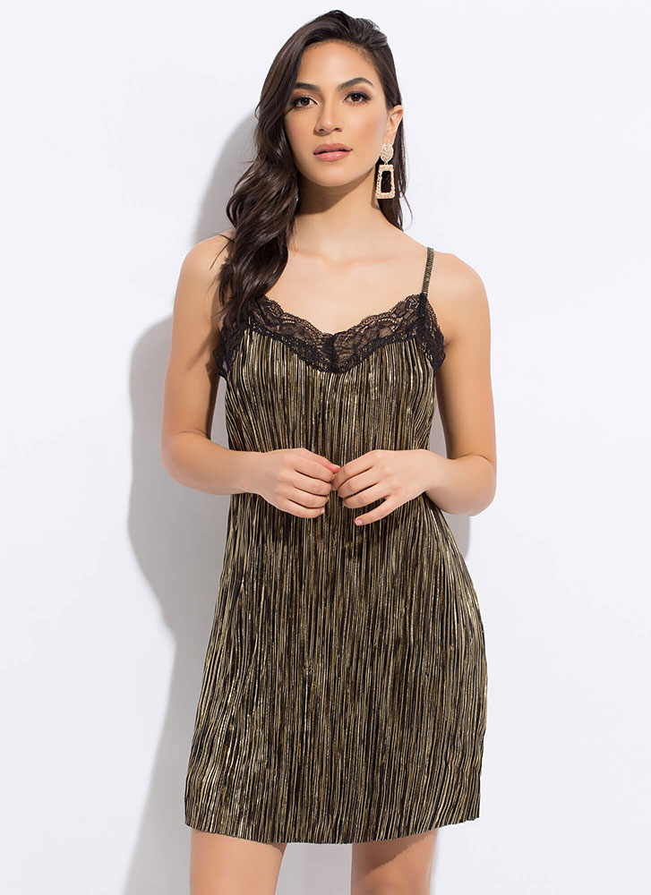 Evening Essential Metallic Slip Dress Black Blush Gojane Com