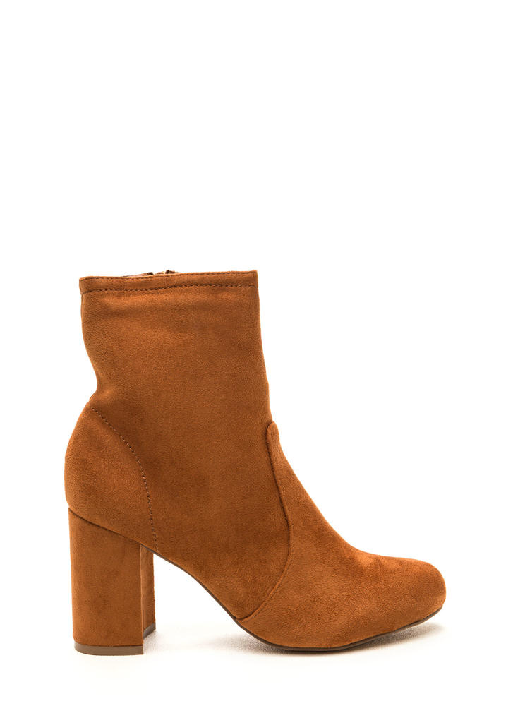 Stacked In Your Favor Chunky Booties MOCHA