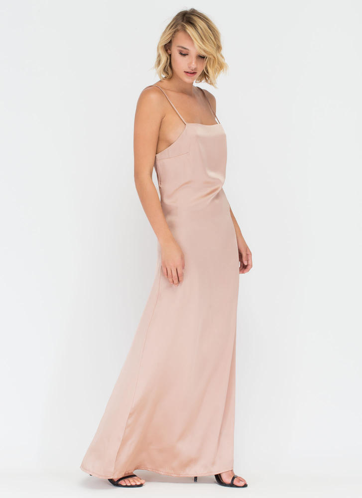 Give 'Em The Slip Maxi Dress PINK (Final Sale)
