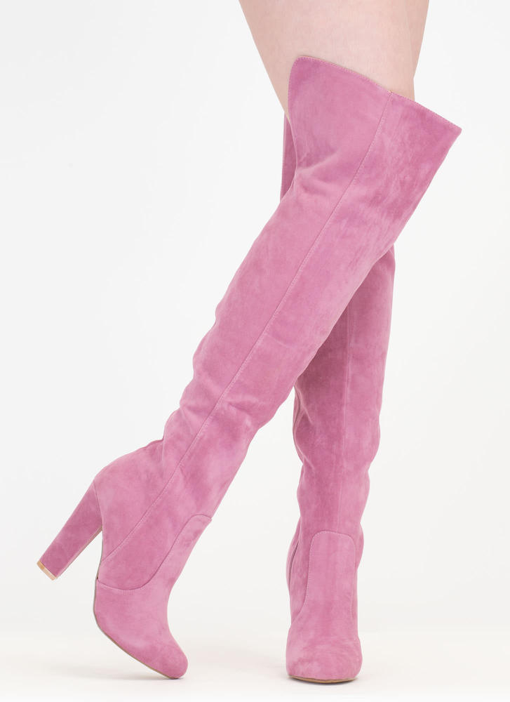 Walking Tall Over-The-Knee Boots MAUVE