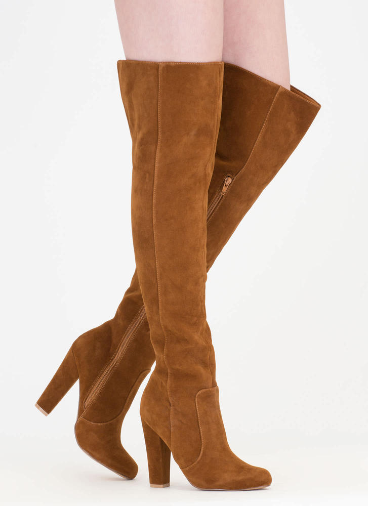 Walking Tall Over-The-Knee Boots MOCHA