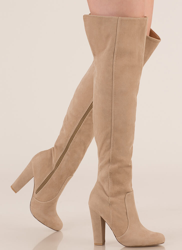 Walking Tall Over-The-Knee Boots NUDE
