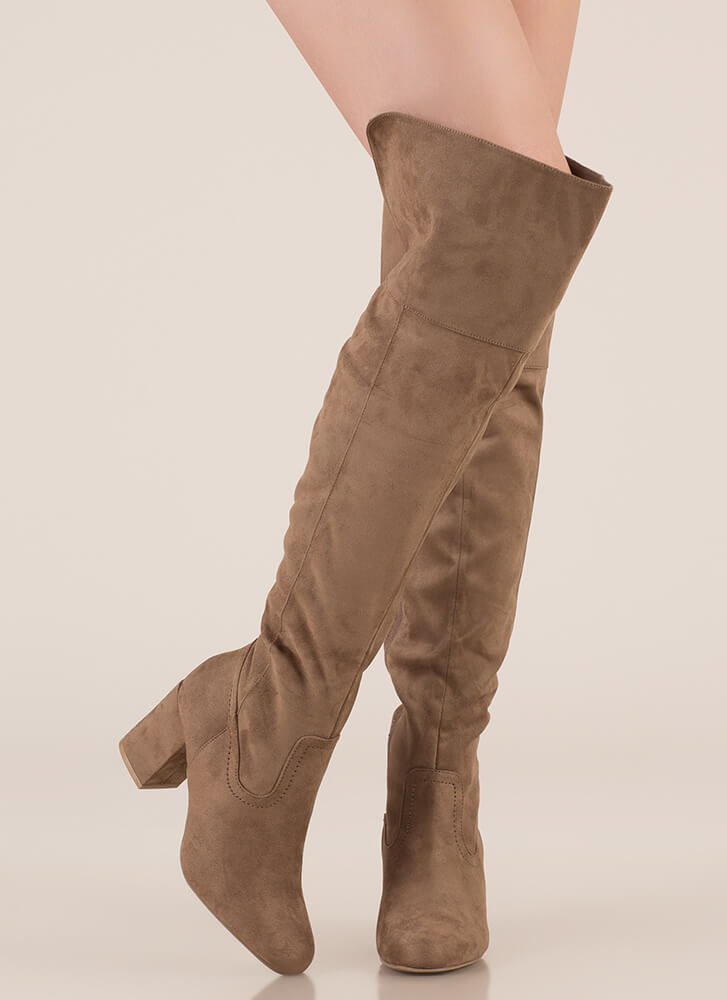 Edge Of Glory Over-The-Knee Boots TAUPE