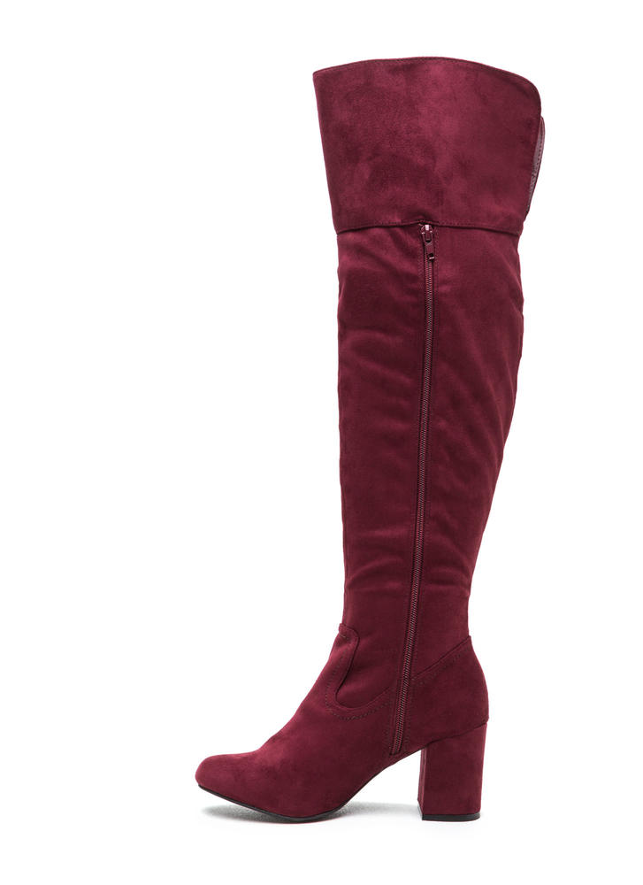Edge Of Glory Over-The-Knee Boots WINE