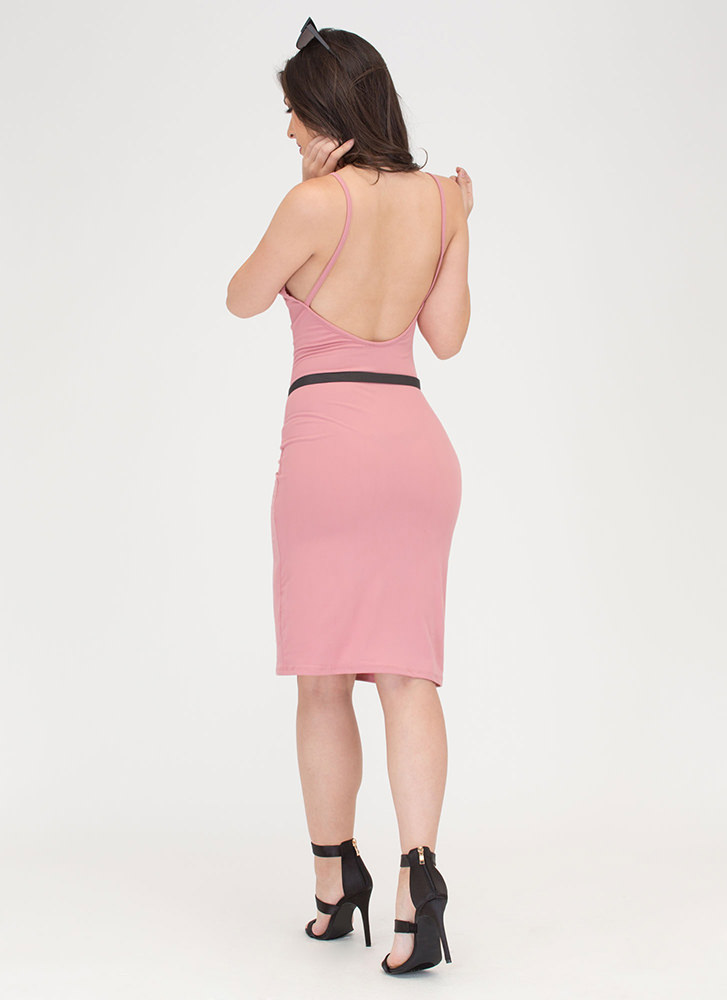 U Gotta Have It Open Back Midi Dress MAUVE