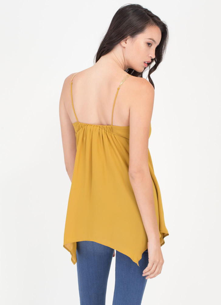 Chain Of Command Cami Handkerchief Tank MUSTARD (Final Sale)