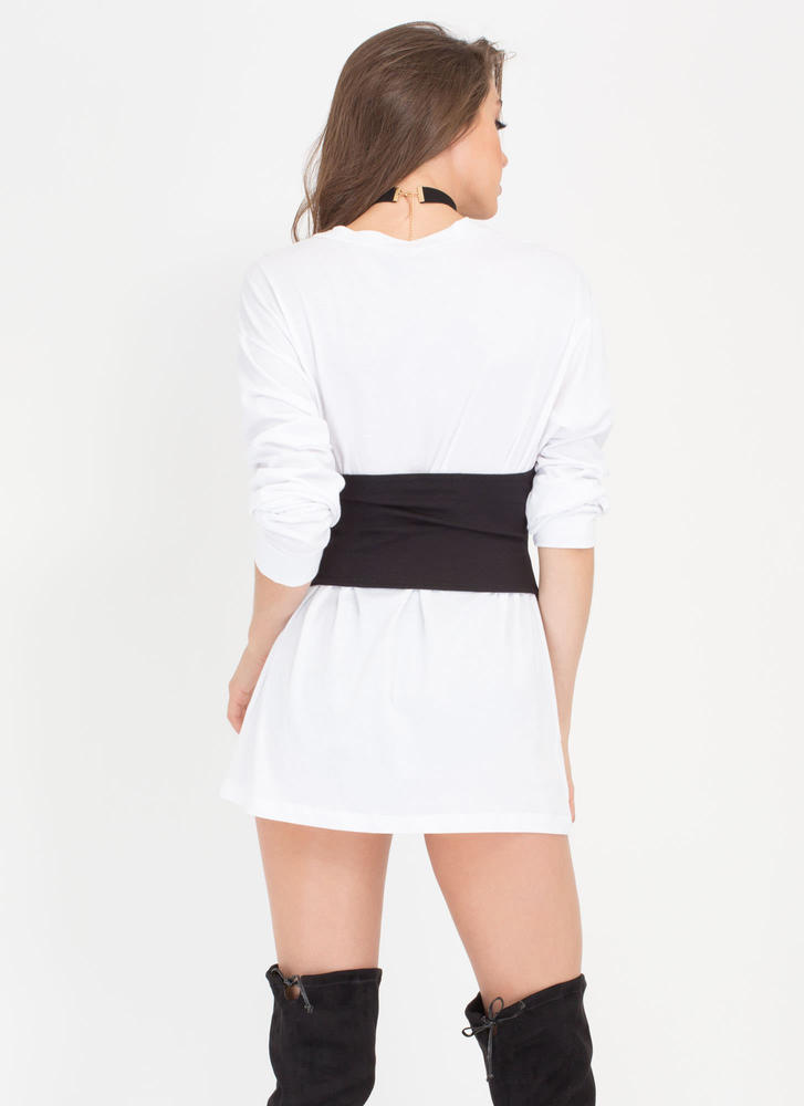 Easy Does It Oversized Long-Sleeve Top WHITE